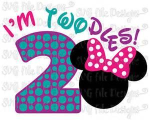 i m twodles two year birthday minnie mouse disney onesie