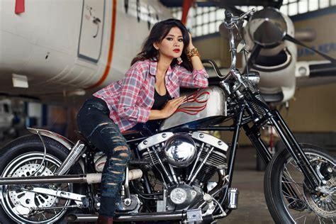 femmes motos fond decran hd arriere plan