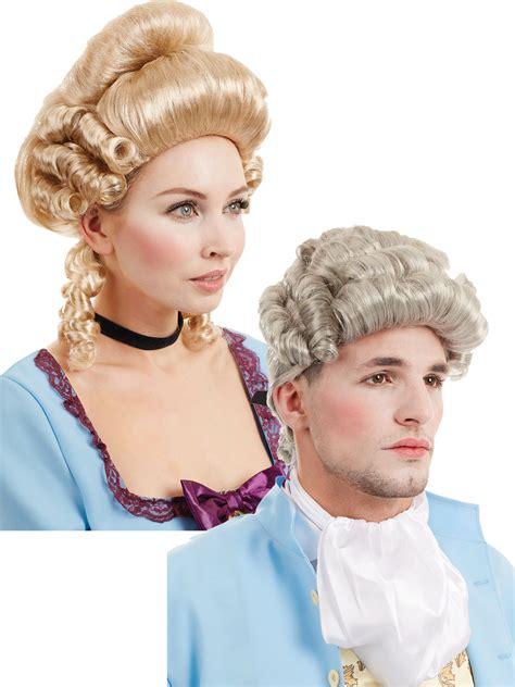 male wigs variety of colours fancy dress accessory 50 s 60 mens ladies georgian wig regency historical adults fancy