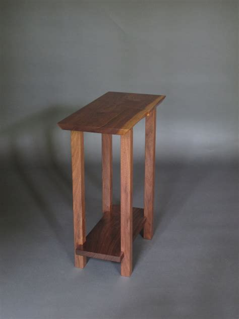 Small narrow table  Modern Wood Furniture  narrow end table, narrow side table, solid wood