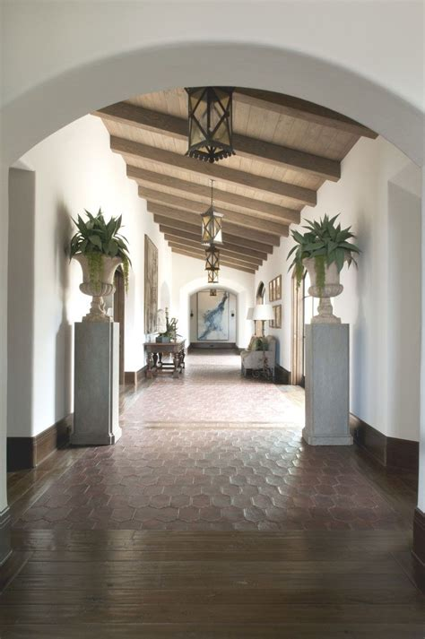 love  arched foyer spanish style homes mediterranean