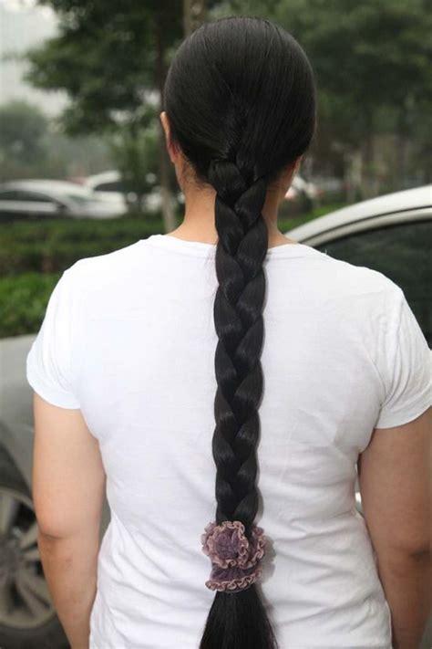 long thick braid    hezhitengfei
