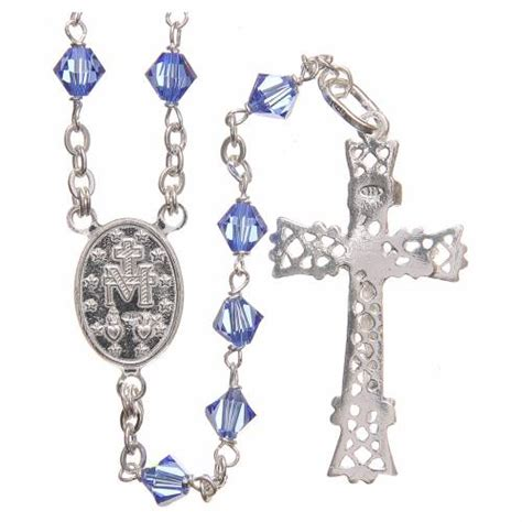 sterling silver rosary uk rosary in swarovski and sterling silver 6mm