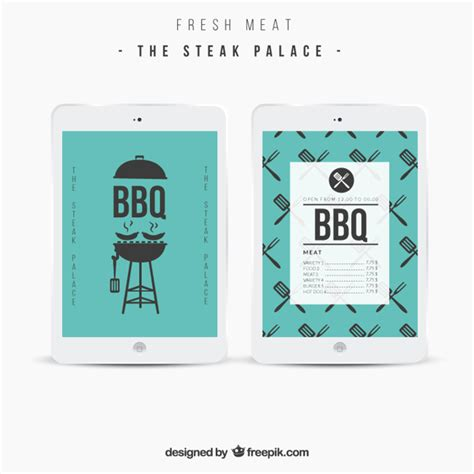 Bbq Menu Template Vector Free Download Bbq Menu Template
