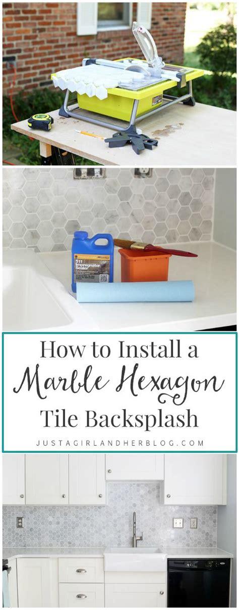 how to install subway tile diy ideas pinterest how to install a marble hexagon tile backsplash