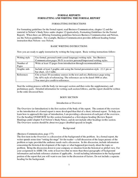 business report writing sle pdf 9 format of business report bussines 2017