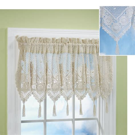 crochet curtain valance victoriana crochet valance rideaux crochet pinterest
