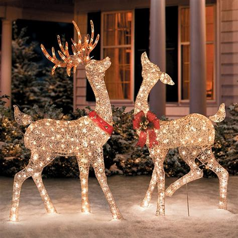 decoration amazon com glittering chagne reindeer