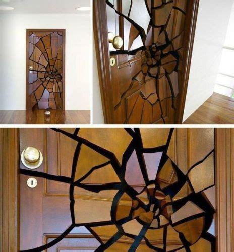 broken door optical illusion door design painted doors