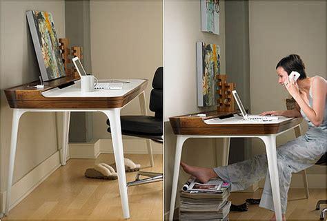 modern minimalist home office desk amalgamates ergonomic