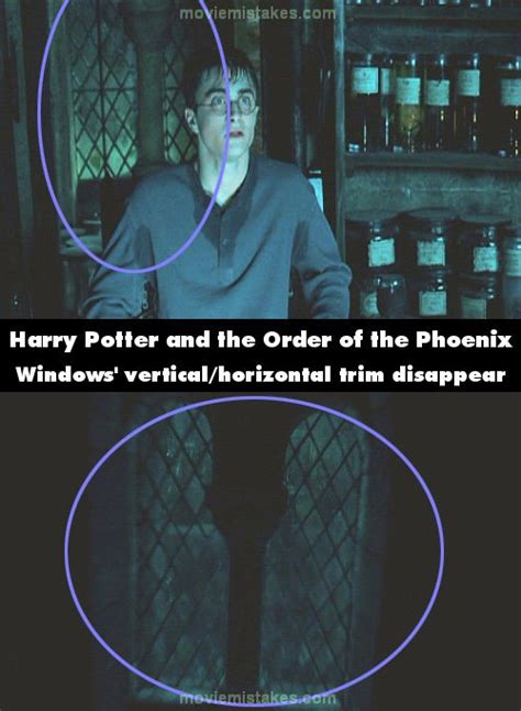 harry potter and the order of the phoenix movie mistake