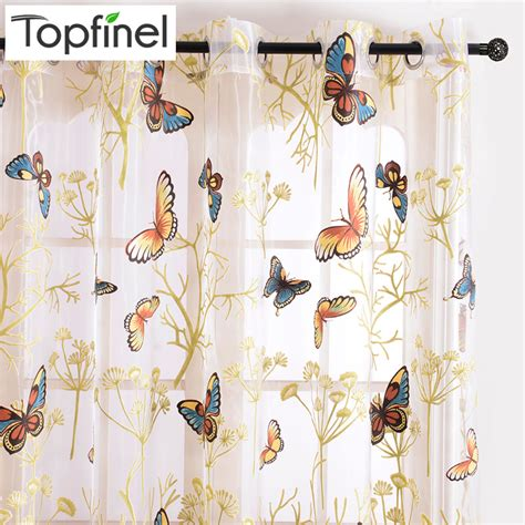 curtains with butterflies on them aliexpress com buy butterfly window curtains for living