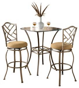 Indoor Bistro Table Set Indoor Bistro Table Set American Heritage 3 Pub Table Set With Barstools In Traditional