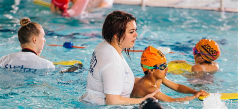 children swimming lessons learn  swim  active