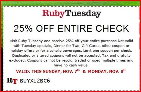 printable job application for ruby tuesdays ruby tuesday coupon 25 off