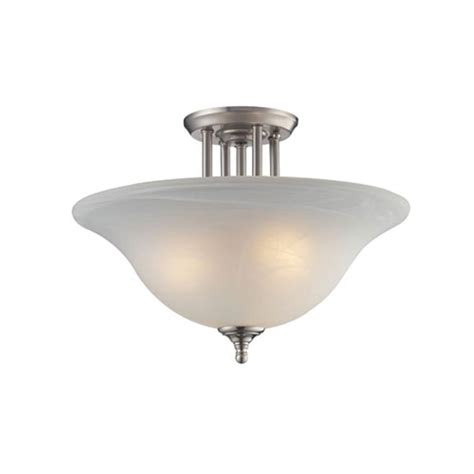 Semi Flush Mount Ceiling Light Brushed Nickel Filament Design 3 Light Brushed Nickel Incandescent Ceiling Semi Flush Mount Light Cli