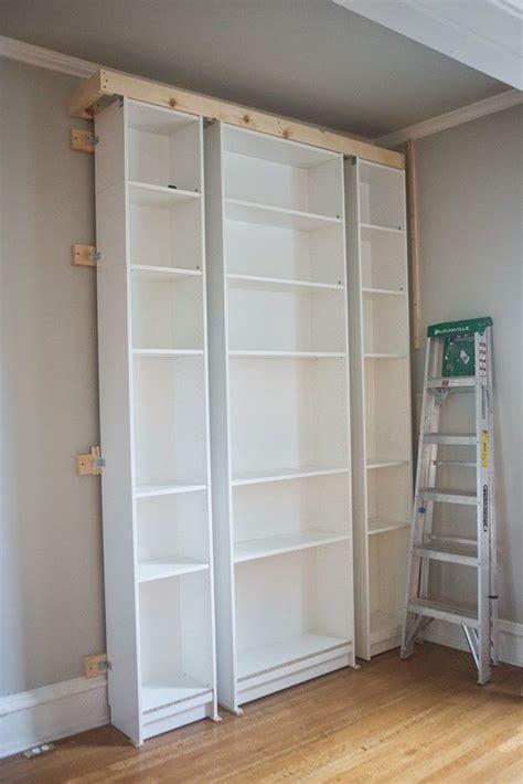 bibliothek m bel ikea s living room ikea billy bookshelves hack