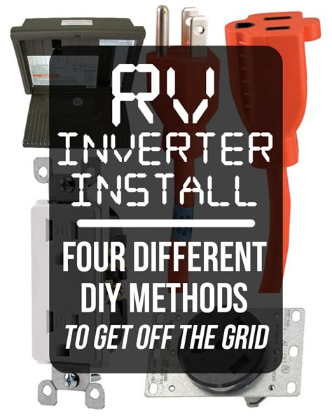 rv inverter install four different diy methods to get