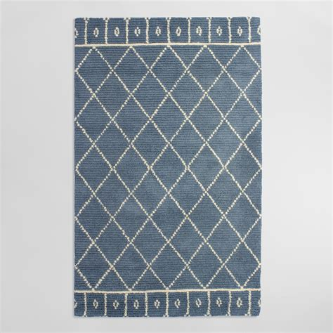 tufted wool area rugs blue tufted wool faiza area rug world market