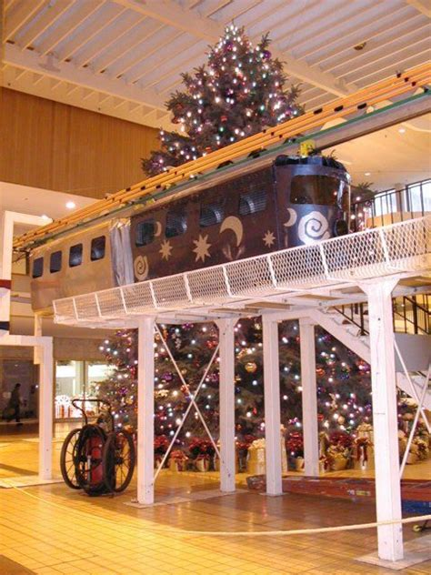 monorail and christmas tree midtown plaza rochester ny
