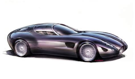 Design Sketch For The 2015 maserati mostro zagato studios