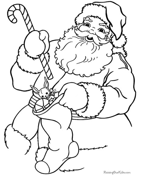 printable christmas coloring sheets santa