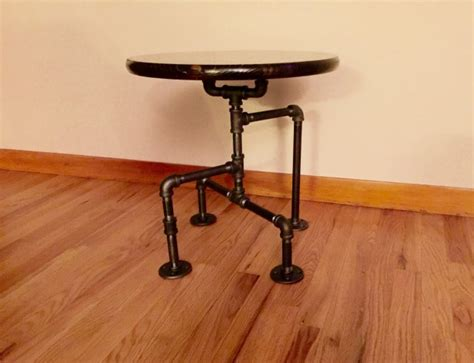 cave end table industrial black pipe table end table cave table