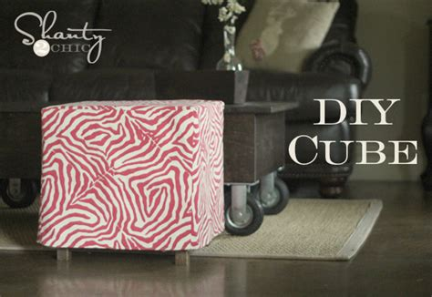 Diy Cube Chair by 20 Inspiring Diy Ottomans Anyone Can Make Home And