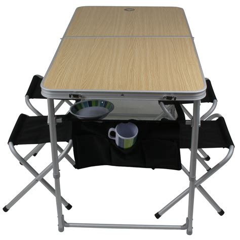 10t portable family mobile table chair set 4 person