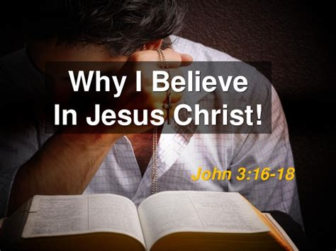 Why I Believe In by Why I Believe In Jesus