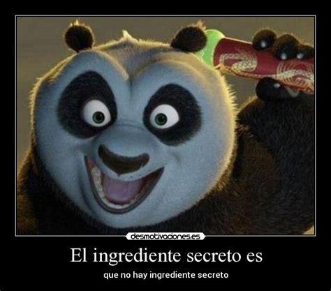 imagenes de kung fu panda con frases chistosas el ingrediente secreto es desmotivaciones