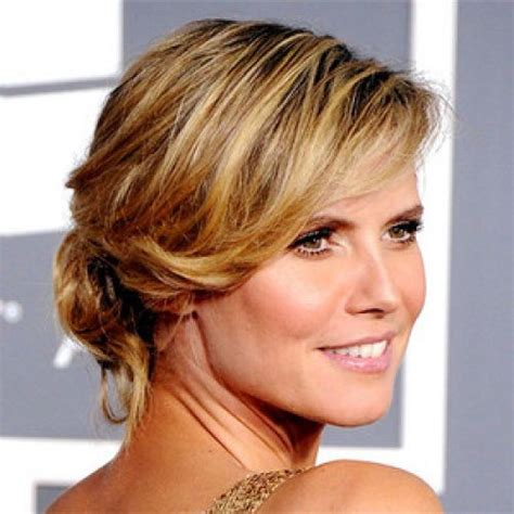 bridal hairstyles for round face shapes 15 hot heidi klum hairstyles sexy hair at any age