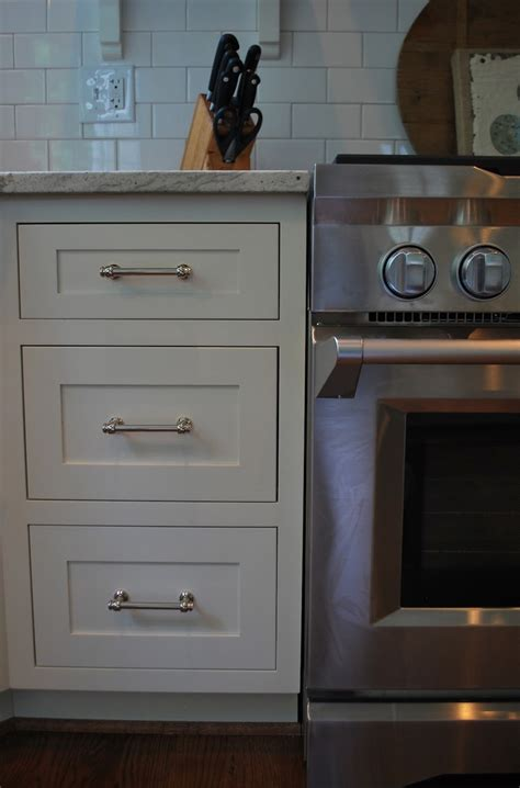 vreeland road client kitchen paint is ben mascarpone hardware is lugarno from