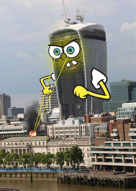 famous builders london s most famous buildings get a spongebob inspired makeover now here this time out