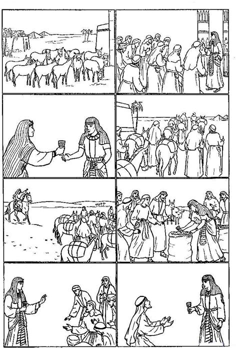 printable bible coloring pages joseph bible coloring pages joseph sold into slavery coloring home