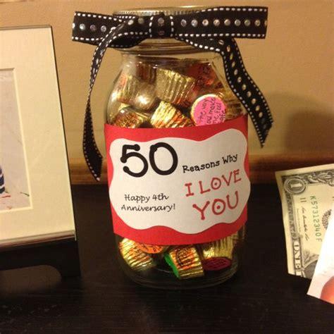 diy anniversary gift idea 50 reasons why i love you