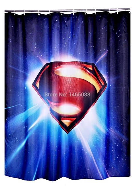 superman logo style shower curtains bathroom accessorise