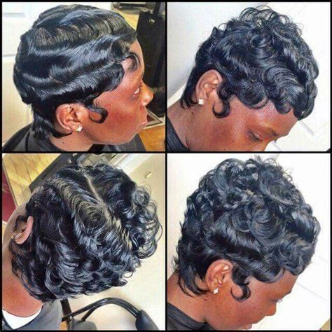 black people hair finger wave with wet and wavy hair added 20 best finger waves images on pinterest short cuts