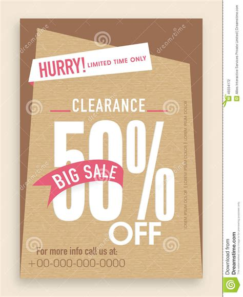Sharma Designs 50 Sale by Sale 50 Flyer Banner Or Template Stock Photo