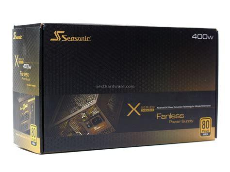 alimentatore fanless seasonic x 400 fanless 1 box specifiche tecniche