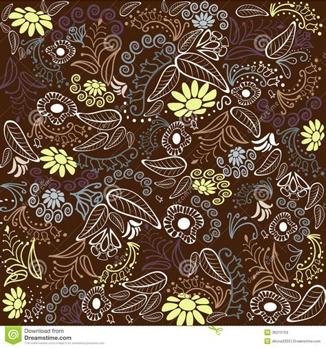 brown flower pattern brown flower pattern stock photos image 36215153
