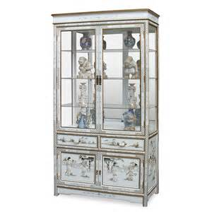 Curio Cabinets In White White Lacquer Of Pearl Curio Cabinet