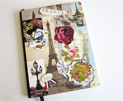 Decorating Journals Ideas Journal Collage Decorated Notebook Blank Journal