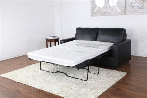Pull Out Leather by Black Bonded Leather Sleeper Pull Out Sofa And Bed Ebay