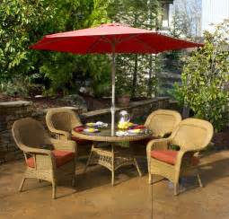 Tortuga outdoor lexington all weather wicker 5 piece patio dining set