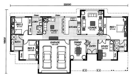 australian home plans floor plans the carlisle 171 australian house plans