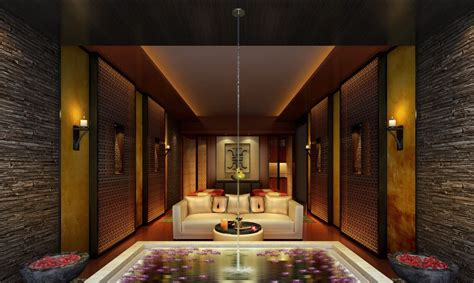 spa house design spa interior design 3d rendering