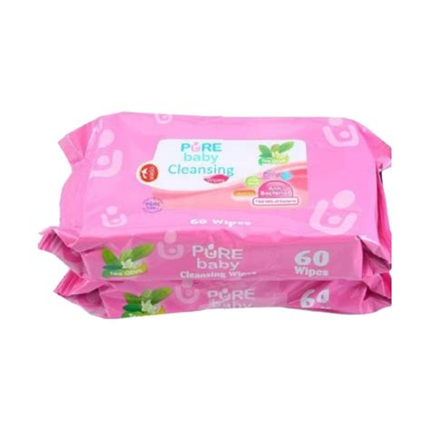 Baby Cleansing Wipes Nappy Tissiu Basah Bokong 60s Harga 2pack jual baby cl wipes tea olive bogof tissue basah 60 wipes 2 pcs per pack harga