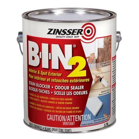 home depot zinsser paint zinsser zinsser bin2 3 78l home depot canada toronto