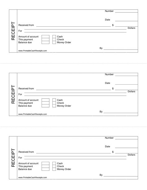 printable blank receipt templates 9 best images of free printable blank receipts free